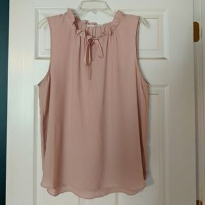 Rose/Nude colored tie blouse